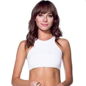 Maaji Daisies Reversible Halter Bikini Top, Medium